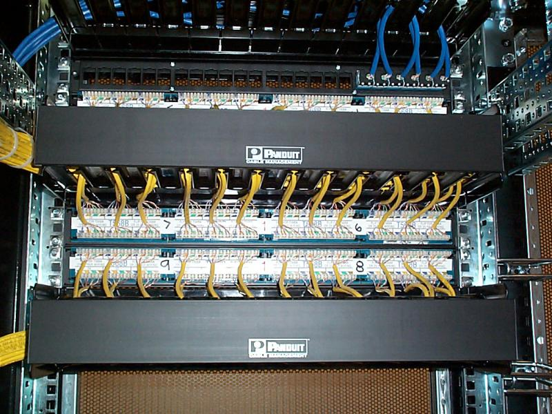 Installations Wiring Management Panduit on
